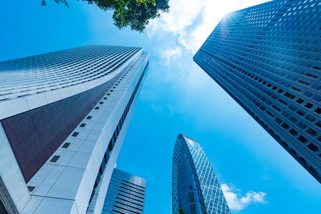 62107108 - high-rise buildings and blue sky-shinjuku, tokyo, japan