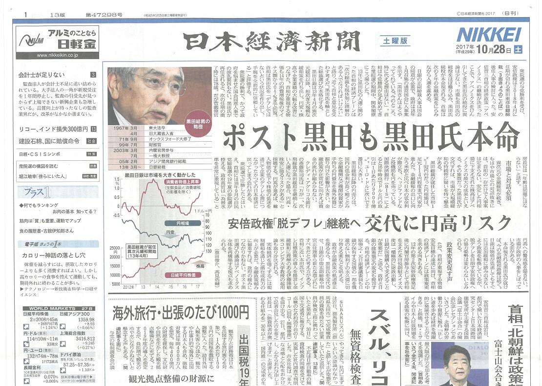 日経新聞表紙 1